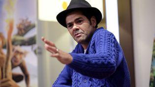 """Jamel Debbouze lors de la sortie du film """"Pourquoi j'ai mangé mon père"""", à Paris, le 1er avril 2015. (MAXPPP)"""