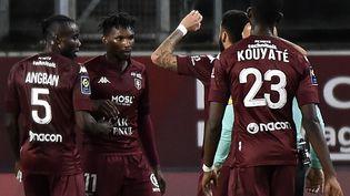 Metz a ouvert le score par Nguette (JEAN-CHRISTOPHE VERHAEGEN / AFP)