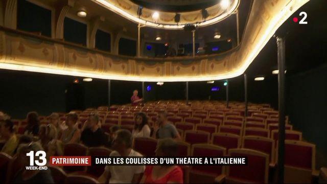 Patrimoine : dans les coulisses d'un théâtre à l'italienne
