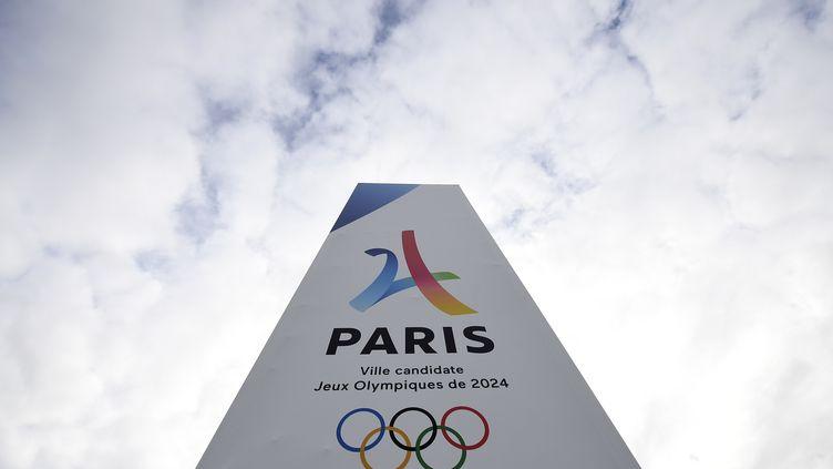 Le logo des Jeux Olympiques de 2024. (Illustration) (FRANCK FIFE / AFP)
