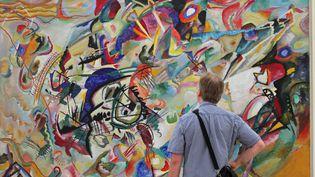 """""""Composition VII"""", l'oeuvre monumentale de Wassily Kandisky prêtée par la galerieTretiakov de Moscou et exposée durant 5 mois à la Fondation Beyeler à Bâle (Suisse)  (PHOTOPQR/L'ALSACE/MAXPPP)"""