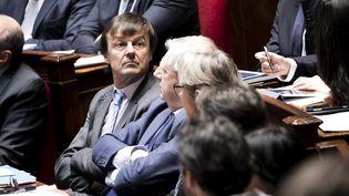 Le ministre de la Transition écologique, le 7 mars 2018, à l'Assemblée nationale, à Paris. (MAXPPP)