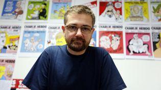 """Charb, le directeur de la publication de """"Charlie Hebdo"""", en 2012. (FRANCOIS GUILLOT / AFP)"""