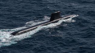 Unsous-marin de Naval Group dans l'océan Atlantique, le5 juillet2020. (CINDY MOTET / NAVAL GROUP / AFP)
