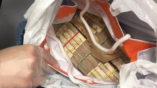 Les bagages du voyageur contenaient près de 245 000 euros. (DOUANE FRANCAISE)