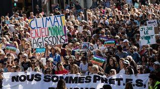 La marche pour le climat, le 8 septembre à Paris. (AURELIEN MORISSARD / MAXPPP)