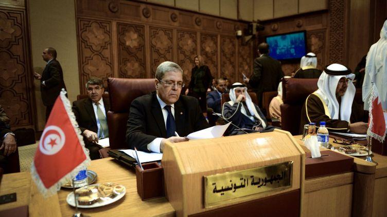 Le ministre tunisien des Affaires étrangères, Othman Jerandi, au siège de la Ligue au Caire, le 21 décembre 2013. (MOHAMMED ELSHAMY / ANADOLU AGENCY)