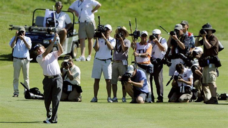 Jimenez dans ses oeuvres (BORIS HORVAT / AFP)