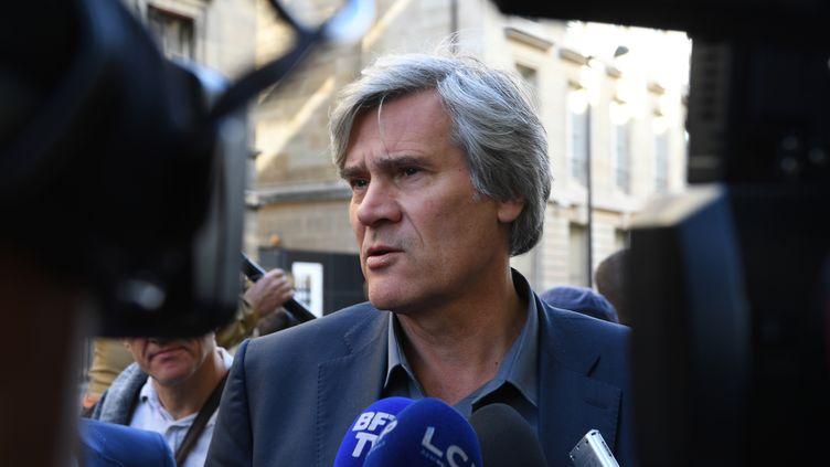 Le député socialiste Stéphane Le Foll au conseil national du PS, le 30 septembre 2017, à l'Assemblée nationale, à Paris. (ERIC FEFERBERG / AFP)
