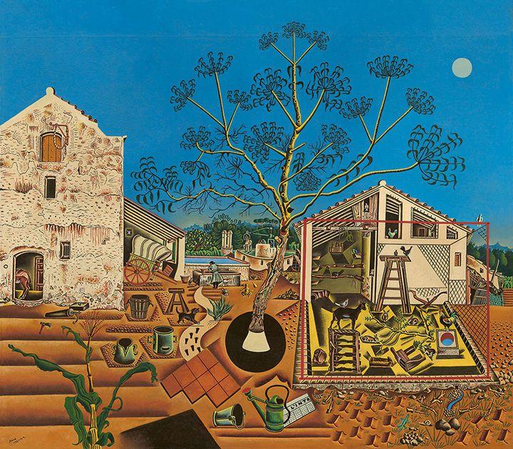 "Joan Miró, ""La Ferme"", 1921-1922, États-Unis, Washington National Gallery of Art, don de Mary Hemingway, 1987  (Successió Miró / Adagp, Paris 2018 Photo National Gallery of Art, Washington)"