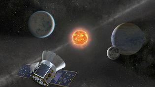 Illustration du satellite Transiting Exoplanet Survey Satellite (Tess) qui doit être lancé le lundi 16 avril 2018 par la Nasa. (NASA)