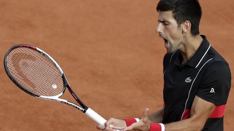 Novak Djokovic qualifié pour les quarts de finale de Roland-Garros  (THOMAS SAMSON / AFP)