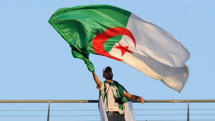 Un supporter algérien agite son drapeau