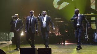 Magic System se produit lors de la soiréedes Grands Prix de la Sacem 2015, le 30 novembre 2015. Le groupe ivoirien venait de recevoirle Grand Prix des musiques du monde.  (SADAKA EDMOND/SIPA)
