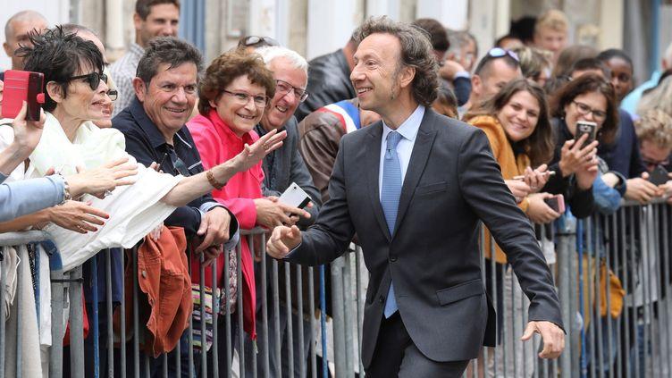 Stéphane Bern en juin 2018, visite de la maison de Pierre Loti à Rochefort  (ludovic MARIN / POOL / AFP)
