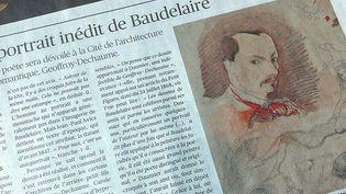 """L'article du """"Figaro"""" évoquant l'autoportrait inédit de Baudelaire (17/4/2013)  (Laurence Houot)"""