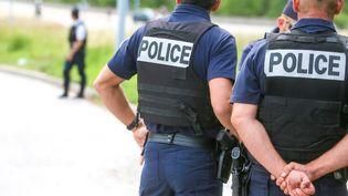 Un contrôle de police à Valence (Drôme), le 11 juin 2020. (NICOLAS GUYONNET / HANS LUCAS / AFP)