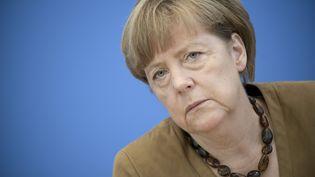 La chancelière allemande,Angela Merkel, lors d'une conférence de presse à Berlin, le 18 juillet 2014. (STEFAN BONESS / IPON / SIPA)
