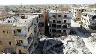 La ville de Raqqa, en Syrie, le 16 octobre 2017. (ERIK DE CASTRO / REUTERS)