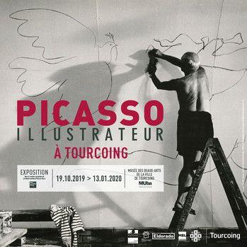 """L'affiche de """"Picasso Illustrateur"""" (MUba Tourcoing)"""