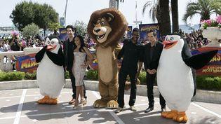 Autour d'Alex le lion, David Schwimmer, Jada Pinkett, Chris Rock et Ben Stiller  (Bernard Brun / France Télévisions)