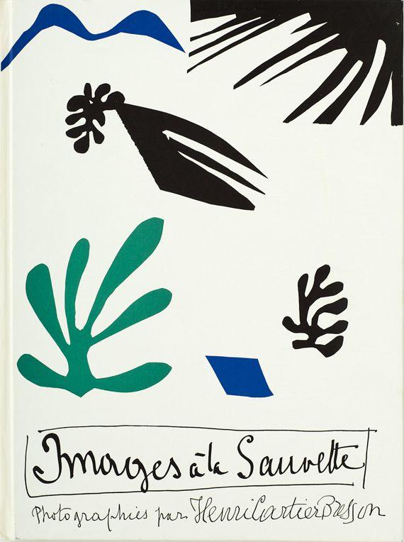 """Maquette pour la couverture du livre """"The Decisive Moment"""", 1952. Papiers gouachés, découpés et collés, encre de Chine. 36 x 57 cm. (SUCCESSION H. MATISSE / PHILIP BERNARD / MUSEE DEPARTEMENTAL MATISSE DU CATEAU-CAMBRESIS)"""
