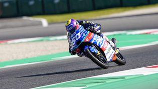 Jason Dupasquierlors de la Moto 3 Gran Premio d'Italia Oakley 2021, sur Autodromo Internazionale del Mugello, en Italie. (GIGI SOLDANO / AFP)
