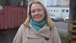 L'ancienne élue FN de Lorient (Morbihan), Joëlle Bergeron, le 11 janvier 2014. (  MAXPPP)