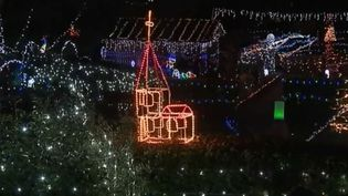 Jardin décoré d'illuminations de Noël, à Séméac (Hautes-Pyrénées) (FRANCE 3)