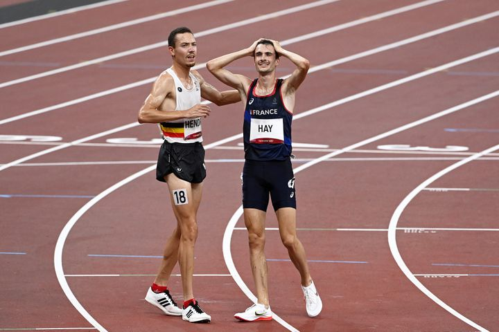 Hugo Hay après avoir raté la qualification en finale du 5 000 m, le 3 août (HERVIO JEAN-MARIE / KMSP)