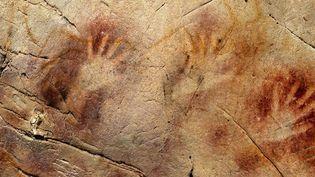 Ces peintures sur les murs de la grotte El Castillo auraient plus de 40.000 ans.  (Pedro Saura / Science / AFP)