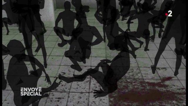 Envoyé spécial. Le bruit des pas des gardiens, le son des câbles électriques utilisés pour torturer... l'enfer de la prison syrienne de Saidnaya reconstitué par les souvenirs des détenus