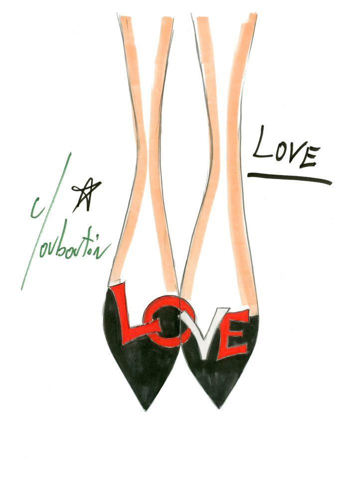 Croquis du modèle Love. (CHRISTIAN LOUBOUTIN)