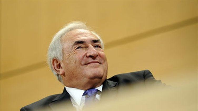 Dominique Strauss-Kahn lors d'une réunion à Genève, le 8 décembre 2010. (AFP - Fabrice Coffrini)