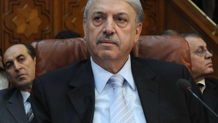 L'ambassadeur de Syrie à la Ligue arabe, Youssef Al-Ahmad, lors de la réunion du comité ministériel au Caire (Egypte), le 2 novembre 2011. (MOHAMMED HOSSAM / AFP)