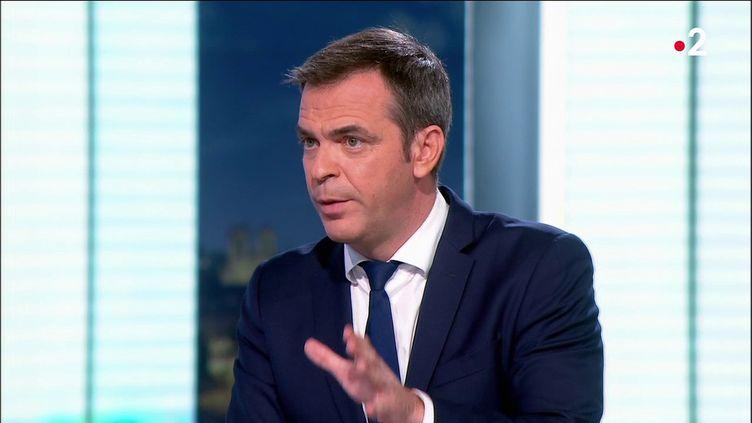 Olivier Véran, ministre de la Santé, sur le plateau dujournal de France 2, le 13 juillet 2021. (CAPTURE ECRAN FRANCE 2)