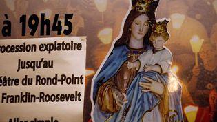 Manifestation de catholiques intégristes contre la pièce Golgota Picnic  (Joël Saget/ AFP)