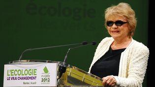 Eva Joly, la candidate écologiste, lors d'un meeting à Nantes (Loire-Atlantique), le 4 avril 2012. (FRANCK DUBRAY / OUEST FRANCE / MAXPPP)
