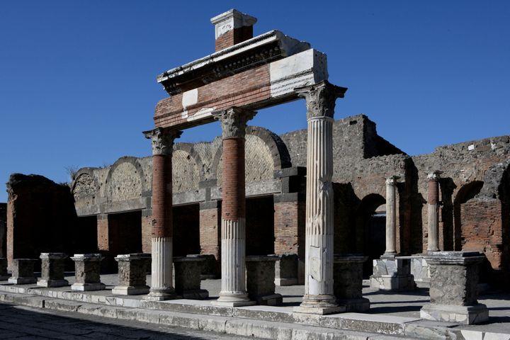 Vue de l'ancien marché de la ville antique de Pompéi (MANUEL COHEN / MANUEL COHEN)