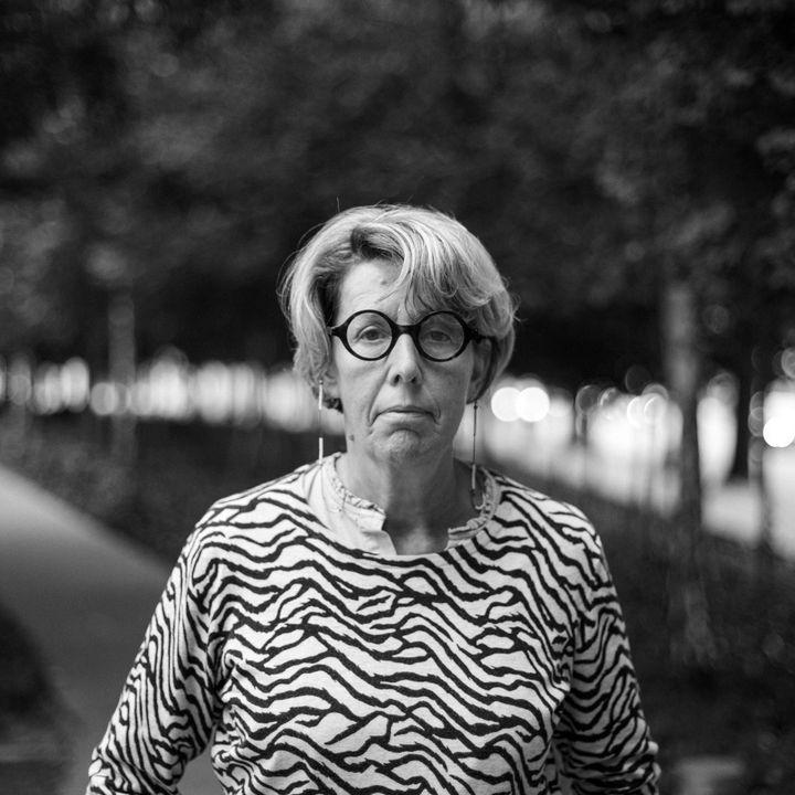 Nadine Ribet-Reinhart.Elleest ici photographiée par David Fritz-Goeppinger, qui était l'un des otagesdu Bataclan, le 13 novembre 2015. (DAVID FRITZ-GOEPPINGER POUR FRANCEINFO)