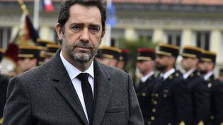 Le ministre de l'Intérieur, Christophe Castaner, lors du cinquantième anniversaire du Centre d'entraînement de la gendarmerie nationale, à Saint-Astier (Dordogne), le 15 mars 2019. (GEORGES GOBET / AFP)