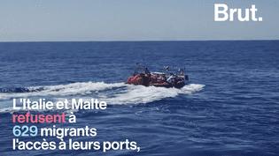 """VIDEO. """"Ils sont faibles, fatigués, épuisés""""…L'Italie et Malte a refusé à 629 migrants l'accès à leurs ports (BRUT)"""