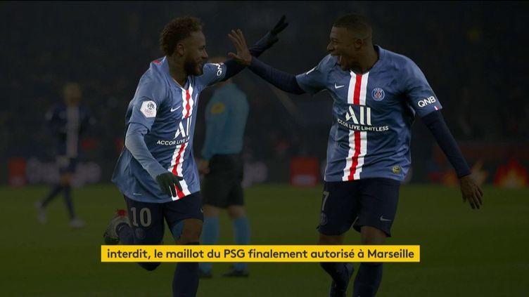 Le maillot du PSG a été autorisé pour la finale de la Ligue des champions à Marseille (FRANCEINFO)