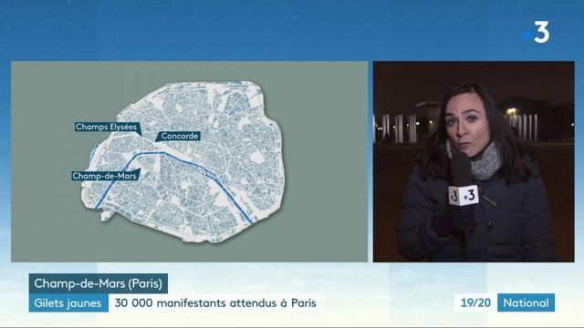 """""""Gilets jaunes"""" : 30 000 manifestants attendus à Paris"""