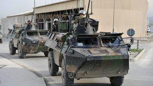 L'un des derniers convois français en Afghanistan à Kaboul, le 7 mai 2013. (ARNAUD BEINAT / MAXPPP)