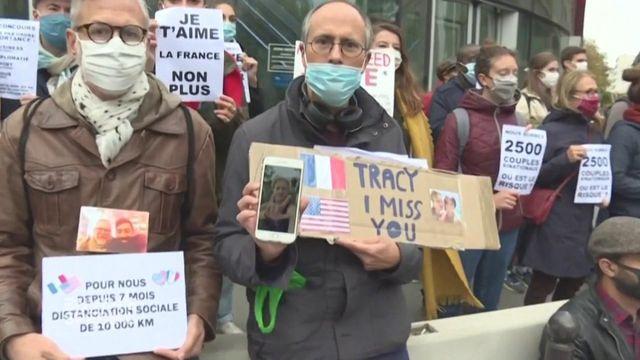 """Envoyé spécial. """"Nous, tout ce qu'on veut répandre, c'est de l'amour, c'est pas le virus"""" : ce Français va-t-il pouvoir rejoindre son amie américaine... au Costa Rica ?"""
