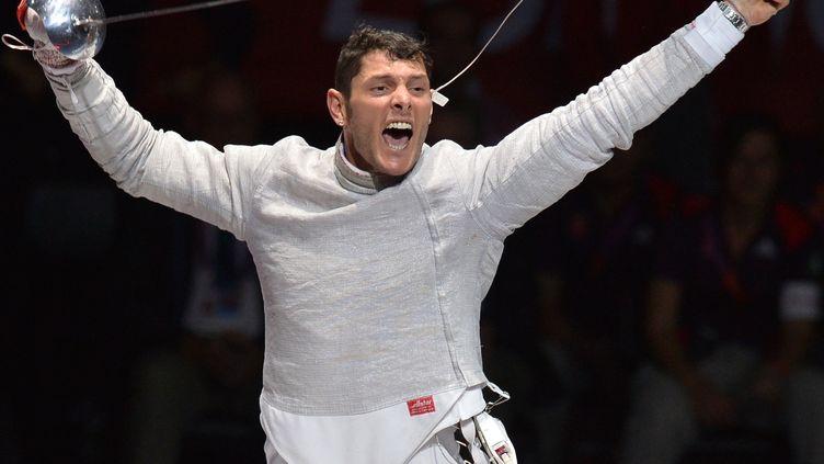 La joie d'Aldo Montano   (ALBERTO PIZZOLI / AFP)