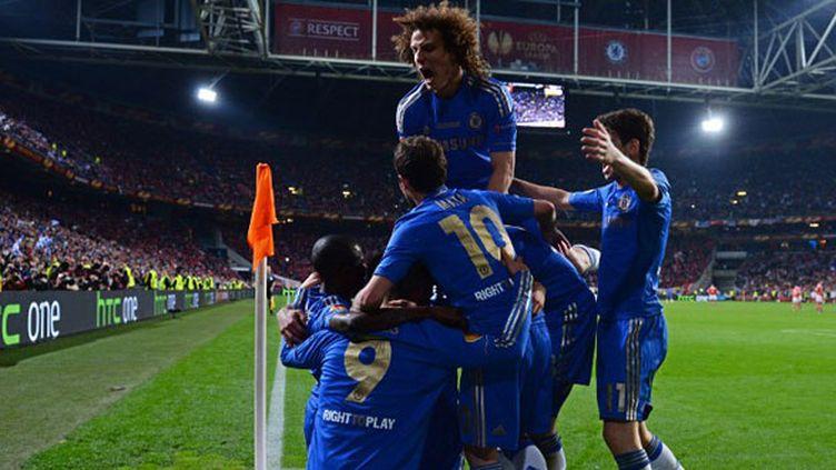 La joie des joueurs de Chelsea