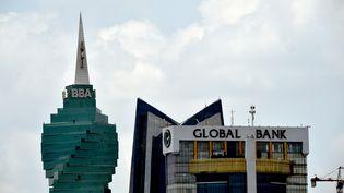 Vue des gratte-ciel de Panama City, la capitale du Panama, prise le 04 avril 2016. (RODRIGO ARANGUA / AFP)