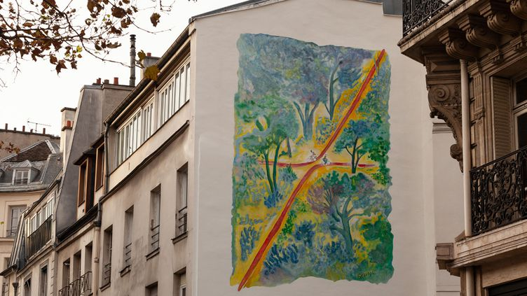 La fresque de Jean-Jacques Sempé à Paris  (DR)